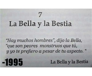bella, bestia, and frases image