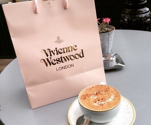 coffee, pink, and vivienne westwood image