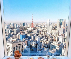 breakfast, city, and food image
