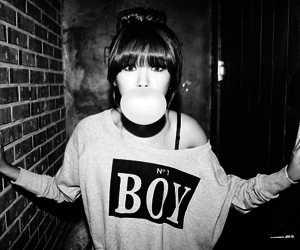 girl, boy, and black and white image