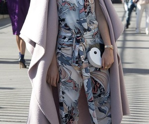 coat, street, and woman image