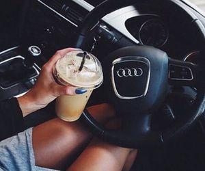 car, girl, and audi image