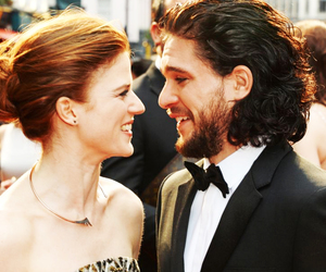 game of thrones, jon snow, and rose leslie image