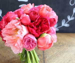 floral design, peonies, and wedding flowers image