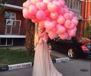 dress, pink, and hijab image