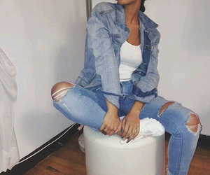 fashion, beauty, and jeans image