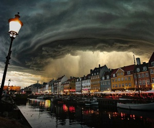 city, storm, and denmark image