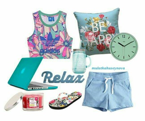 blue, Polyvore, and relax image