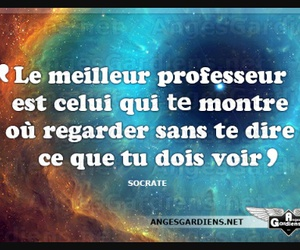 quote, voir, and professeur image