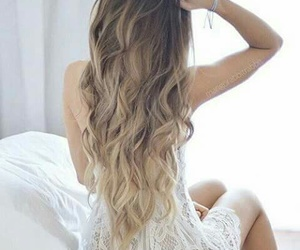 curly, wavy, and dress image