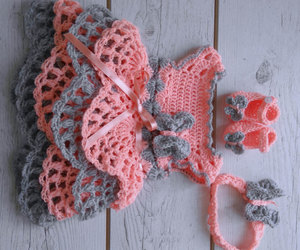 baby outfit, etsy, and crochet headband image