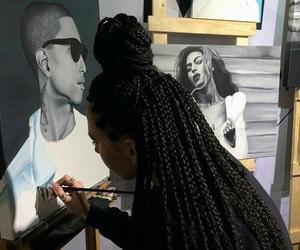 art, braid, and hair image