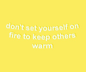 quotes, yellow, and phrases image