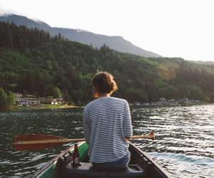 girl, boat, and nature image