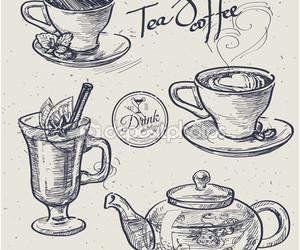 coffe, desenho, and drawn image