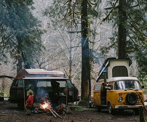 campfire, nature, and Road Trip image