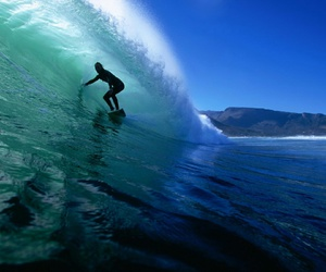 surf, blue, and waves image