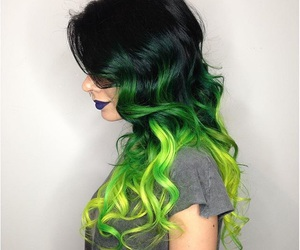 hair, green, and ombre image