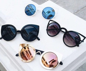 sunglasses, fashion, and summer image