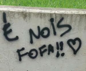 fofa, grafite, and menina image