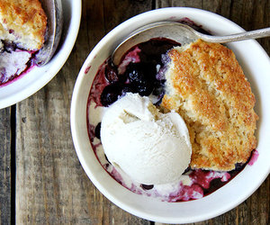 food, ice cream, and blueberry image