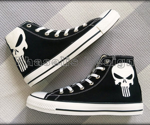 converse, painted, and punisher image