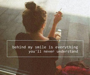 smile, quotes, and sad image
