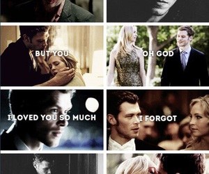 couple love, cute couple, and caroline forbes image