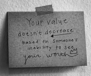 quote, value, and worth image