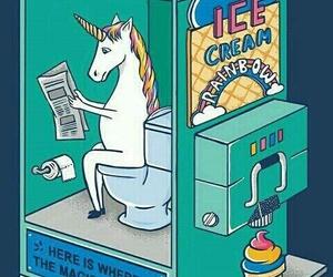 comedy, icecream, and unicorn image
