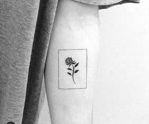 art, black and white, and minimalism image