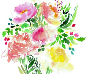 art prints, floral, and flowers image