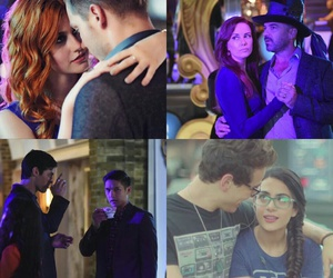 clary fray, alec lightwood, and simon lewis image