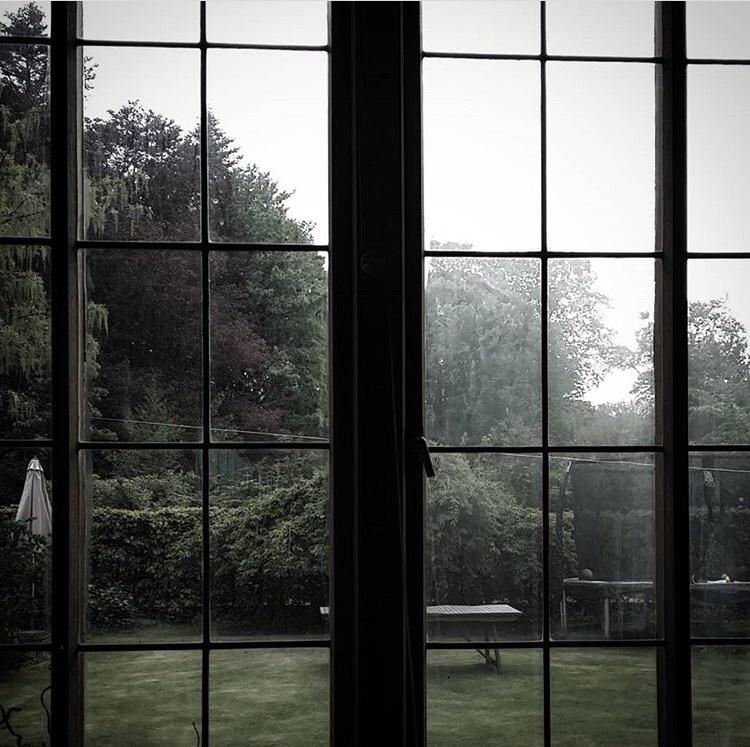 foggy, photography, and window image