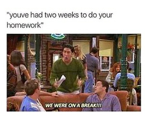 friends, homework, and funny image