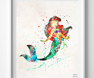 ariel, baby gift, and disney art image