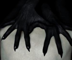 demon, hands, and dark image