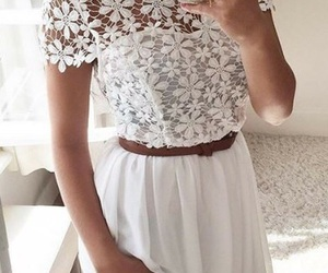 chic, lace, and white image