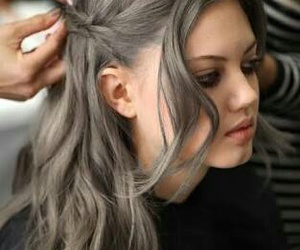 colorful hair and grey hair image
