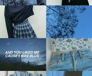 blue, aesthetic, and grunge image