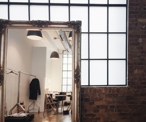 interior, mirror, and room image