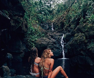 girls, nature, and photography image