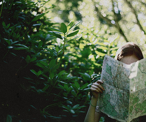 map, girl, and green image
