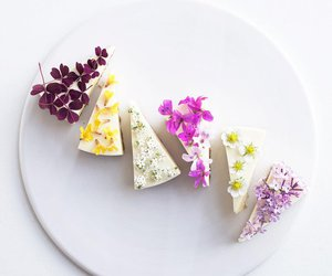 cake, colours, and flowers image