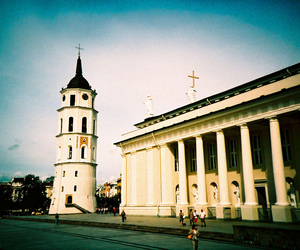 architecture, cathedral, and cross process image