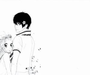 black&white, manga, and manga boy image