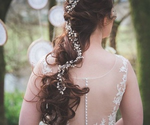 coiffure, wedding, and ornement image