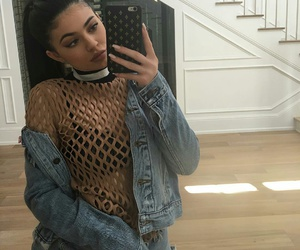 make up, outfit, and jenner image