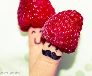 berries, fingers, and cute image