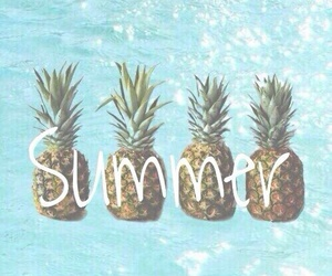blue, pineapple, and summer image